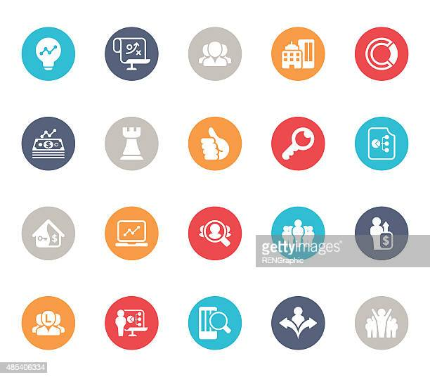 Vector business and Job icon set | 5color Series