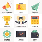 Vector business and marketing icons set. Set 2