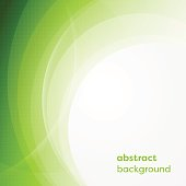 Vector business background with abstract circles and glowing lines.