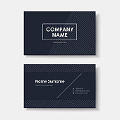 vector business card design of black minimalistic