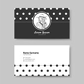 vector business card design template of classic black