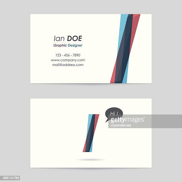 vector business card template - letter i - letter i stock illustrations