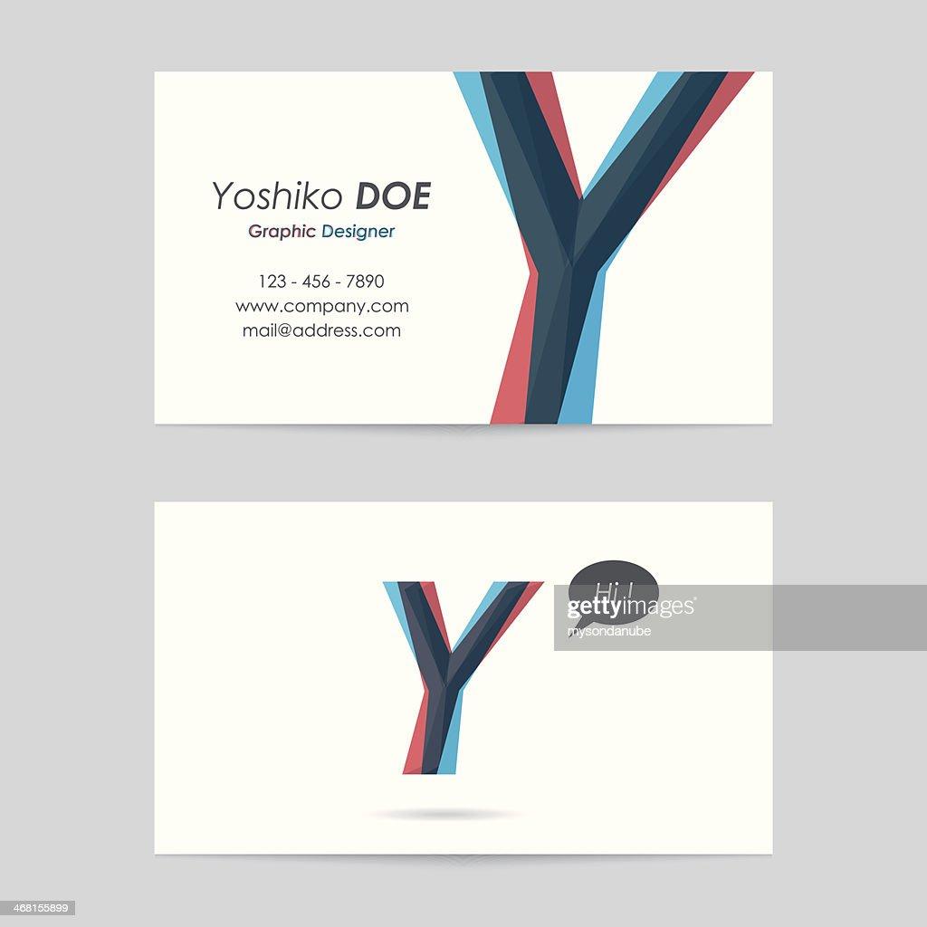 Vector business card template letter y vector art getty images vector business card template letter y vector art maxwellsz