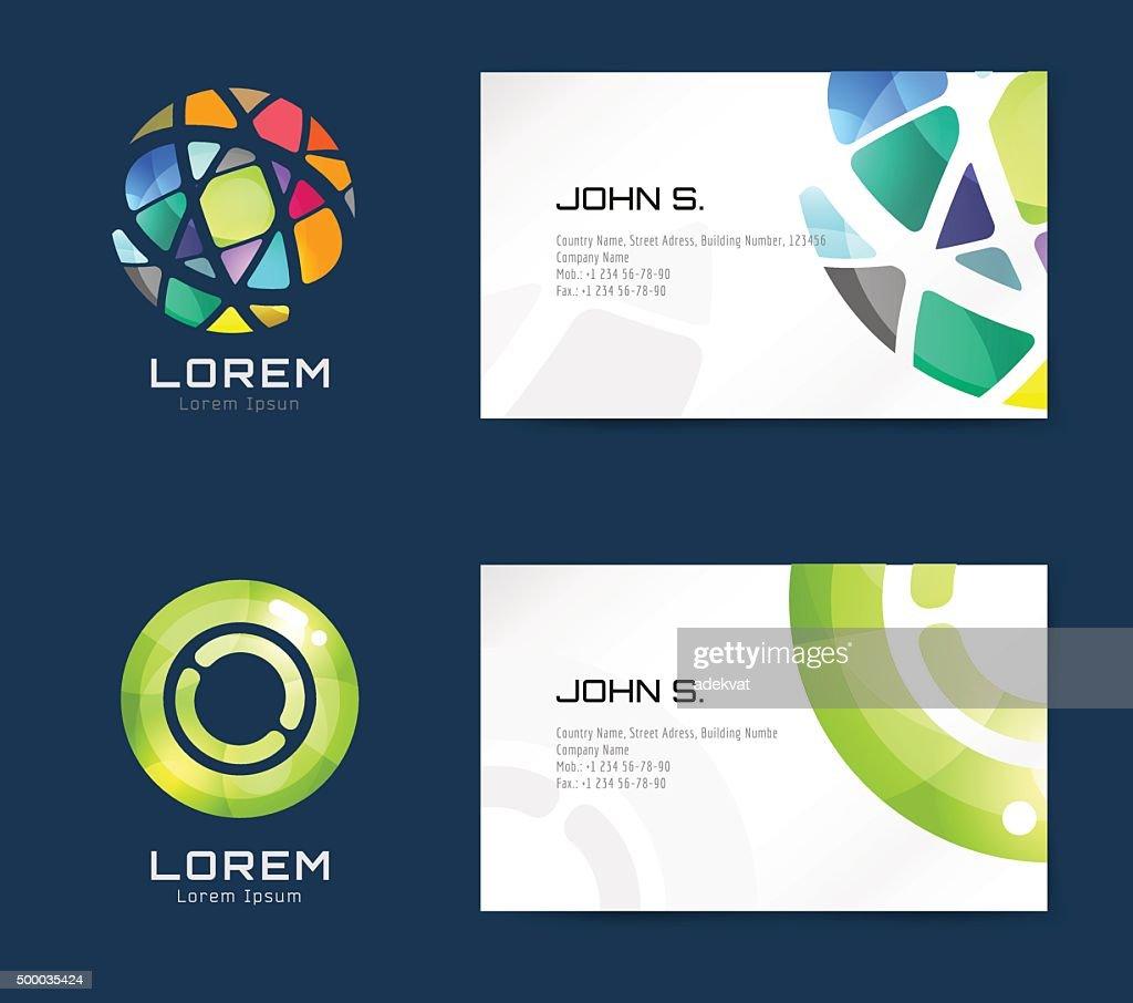 Vector business card template set