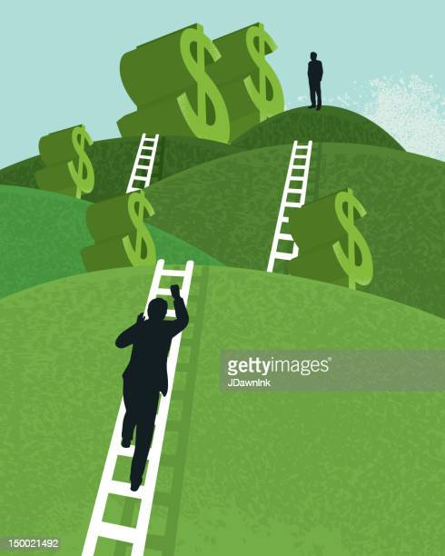 vector business financial concept - ladder stock illustrations, clip art, cartoons, & icons