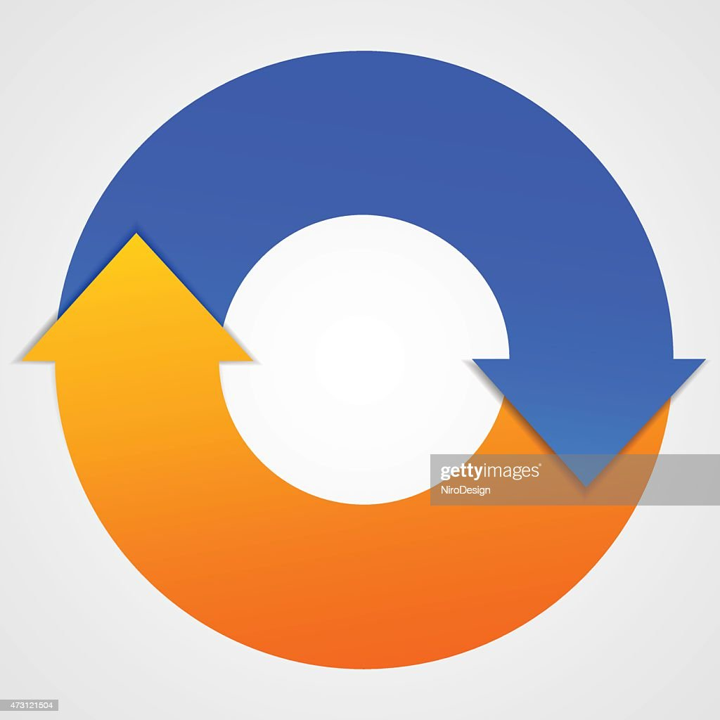 Vector Business Life Cycle Arrows Diagram