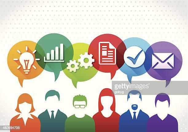 vector business teamwork concept - permission concept stock illustrations, clip art, cartoons, & icons