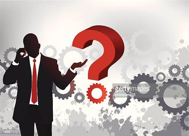 ilustrações, clipart, desenhos animados e ícones de pergunta de negócios - incerteza