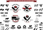 Vector Butchery Labels, Icons, Badges and Design Elements
