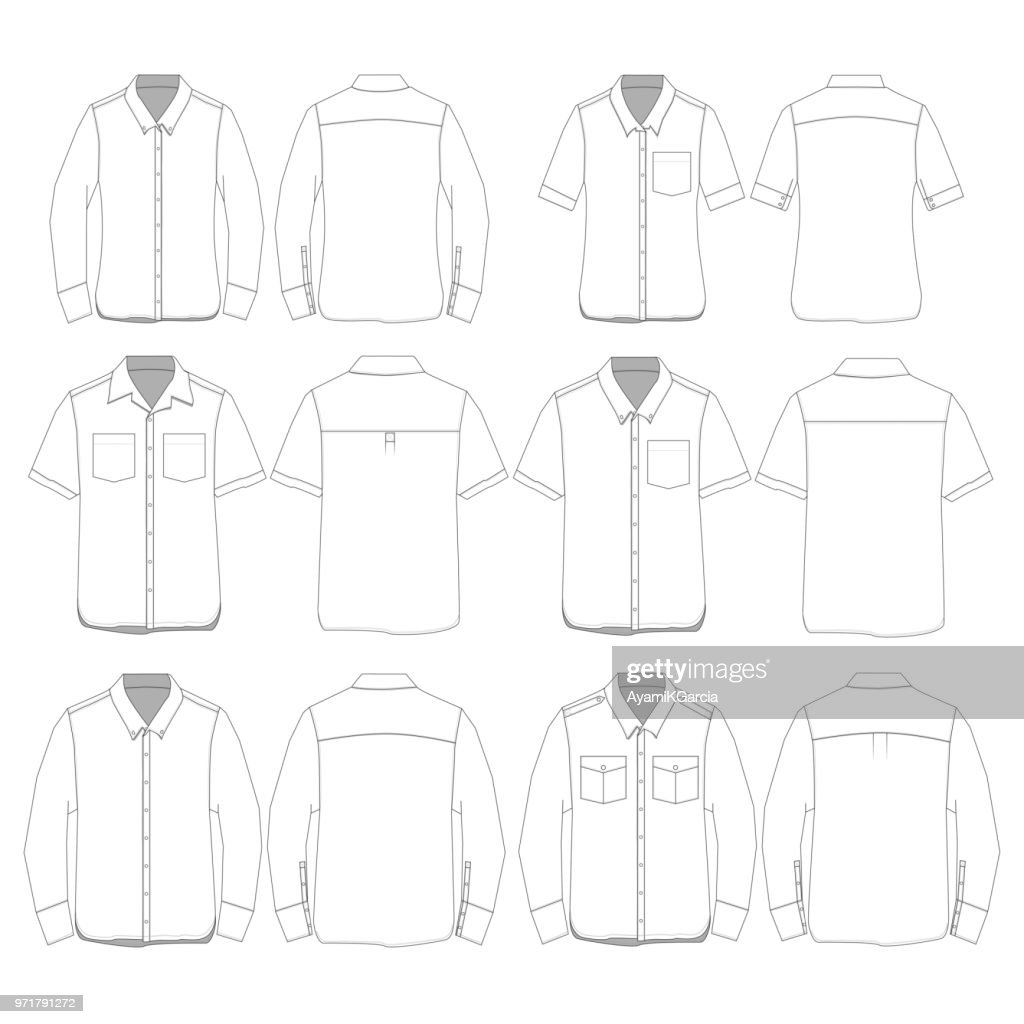 Vector Button Down style Shirt Template
