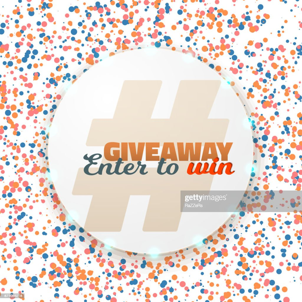 Vector Button Giveaway Competition Template