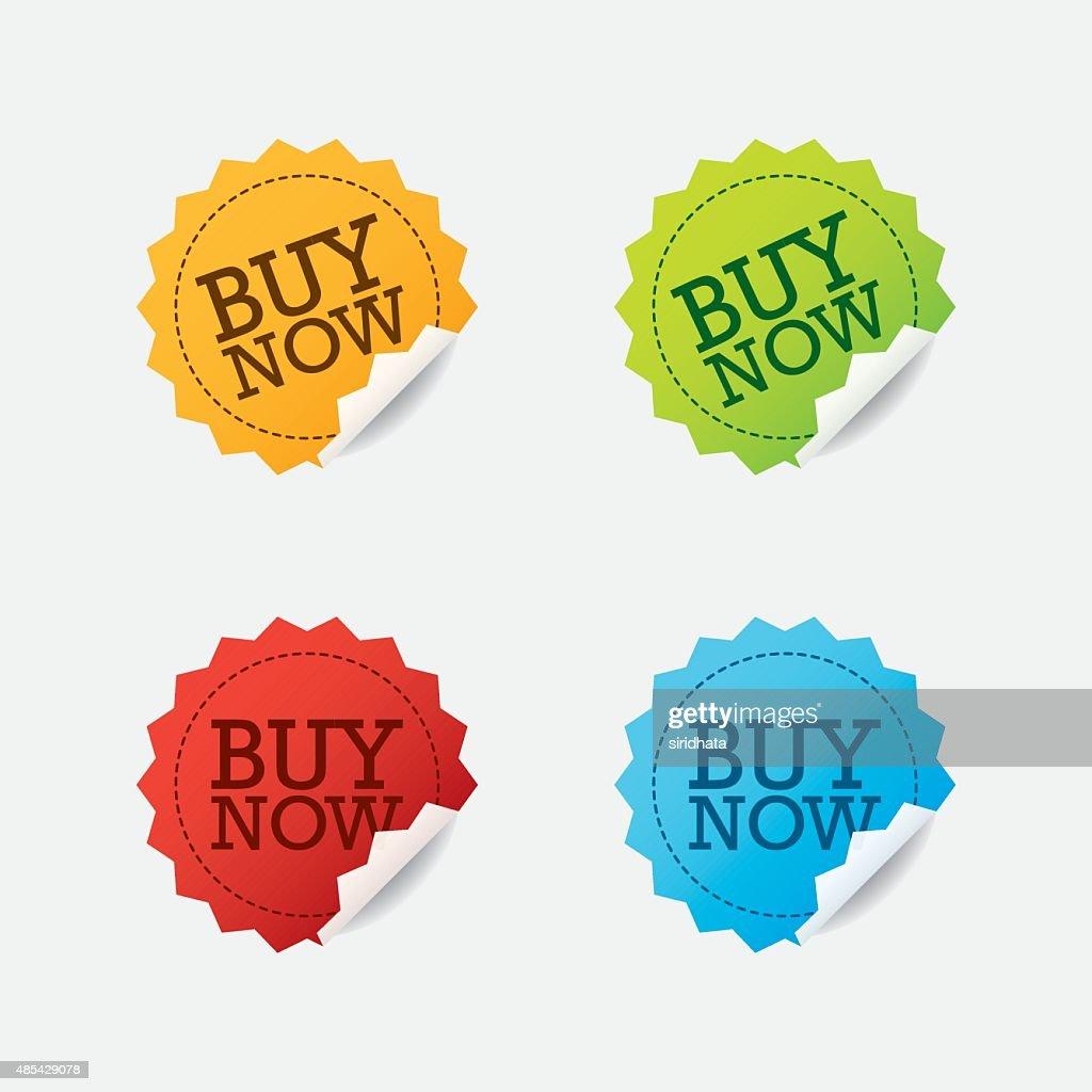 Vector Buy Now Labels Set