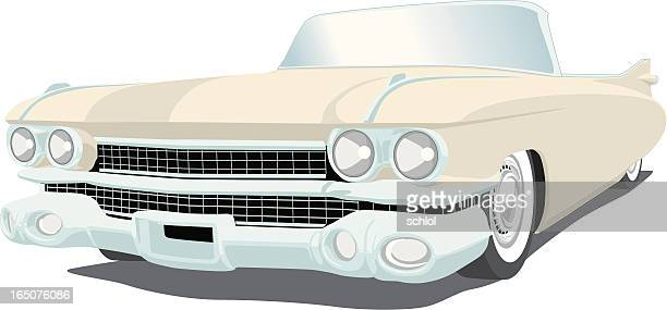 vector cadillac - vehicle hood stock illustrations, clip art, cartoons, & icons