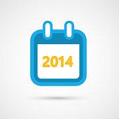 Vector Calendar Icon - 2014
