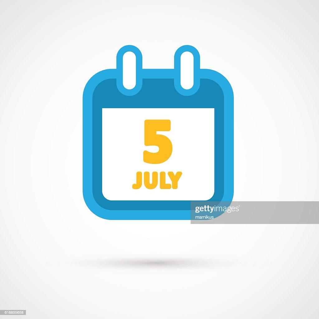 Vector Calendar Icon - date : Vector Art