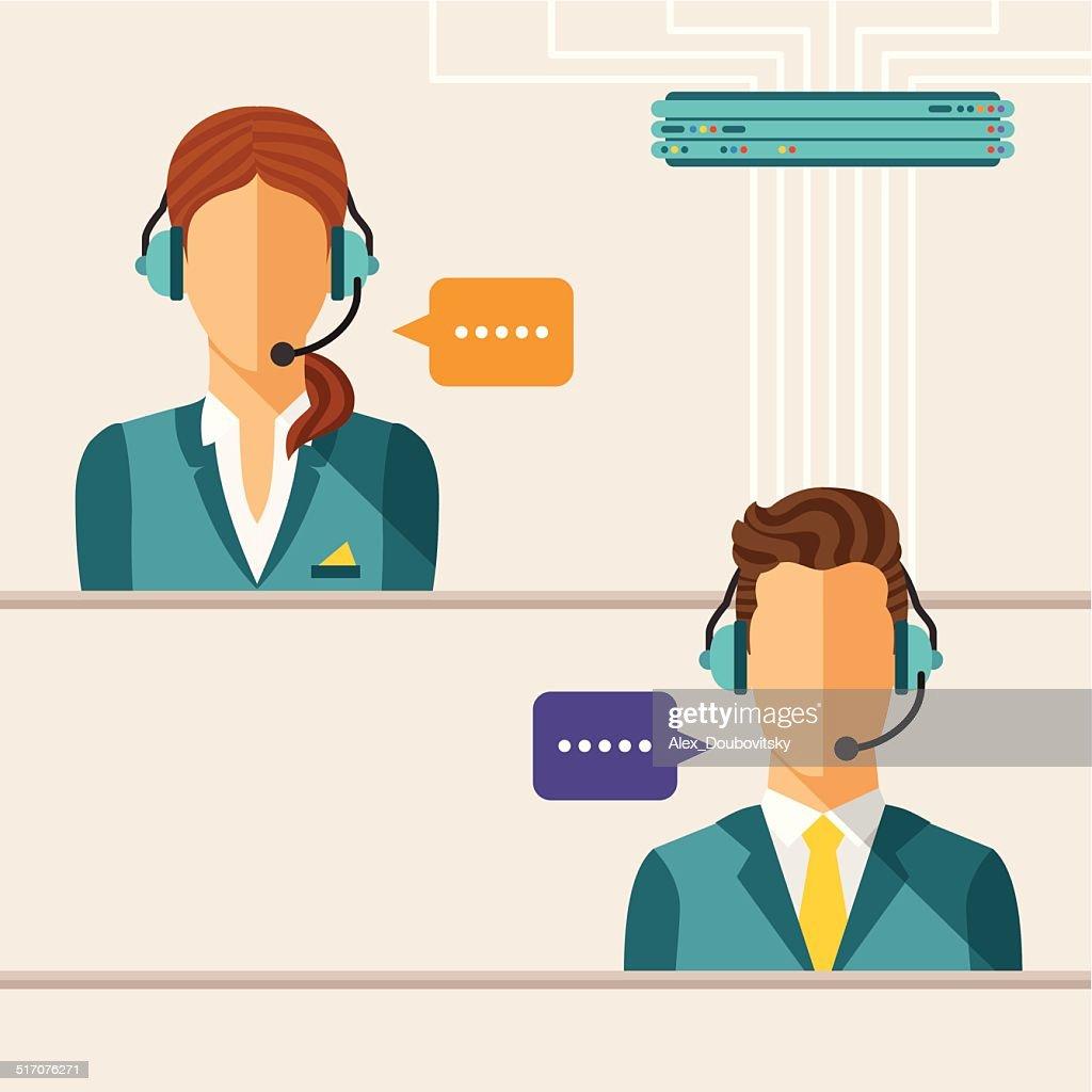 Vector call center concept