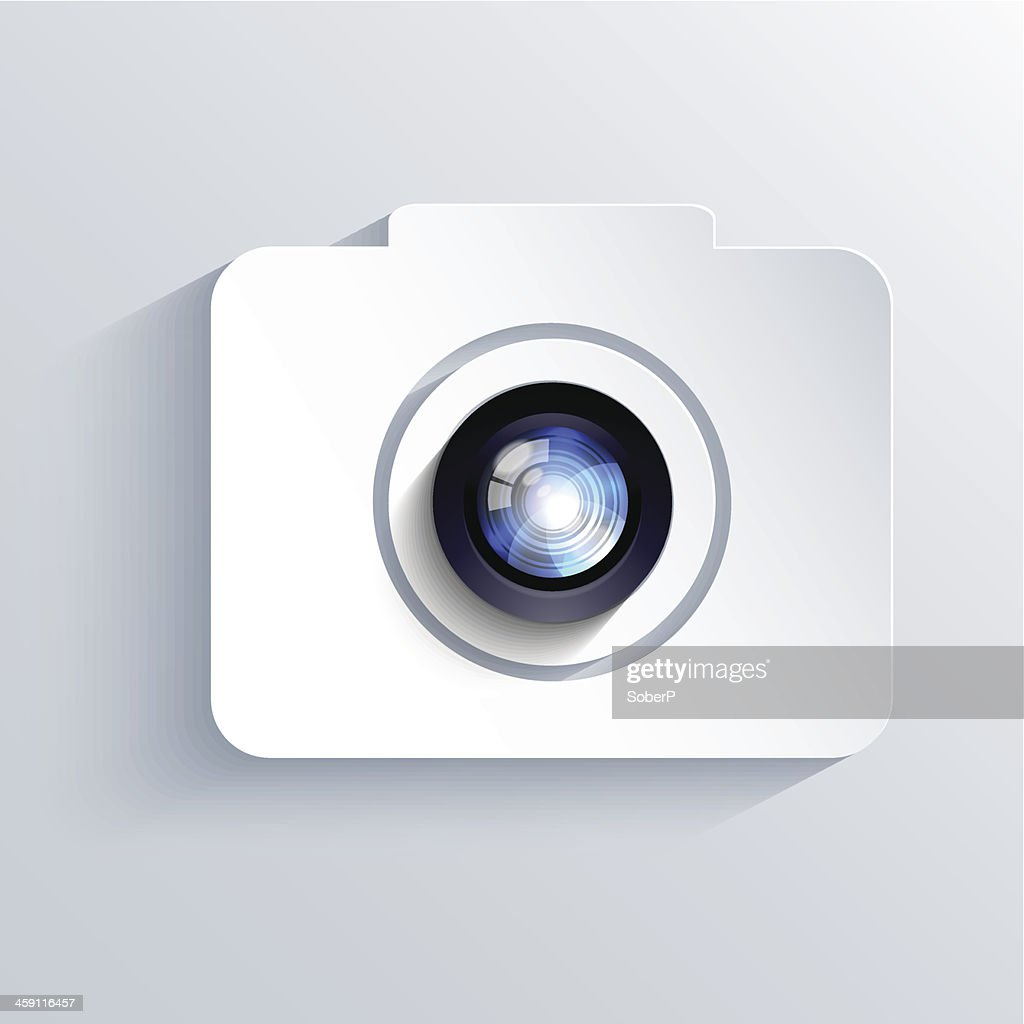 Vector camera icon background. Eps10