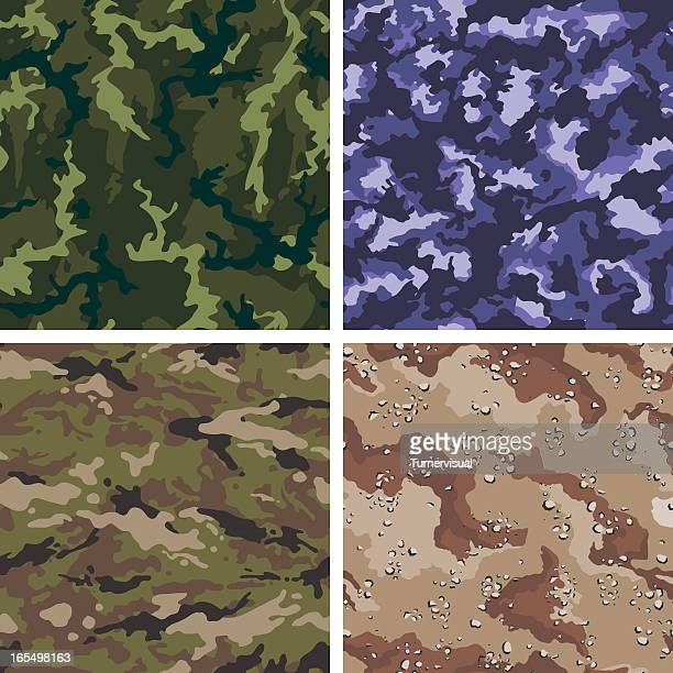 vector camouflage - seamless tiles - us military stock illustrations, clip art, cartoons, & icons