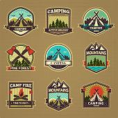 Vector camp label