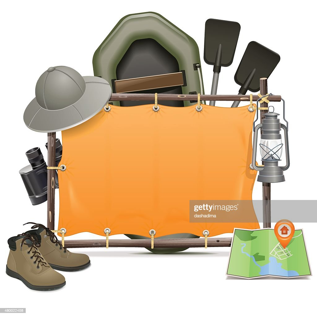 Vector Camping Frame