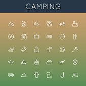 Vector Camping Line Icons