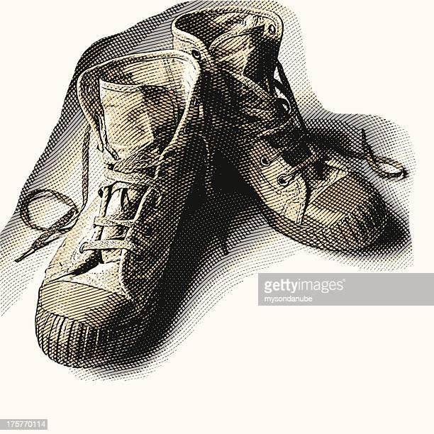 vector canvas boots