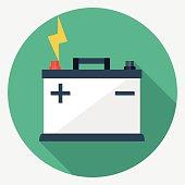 Vector car battery icon