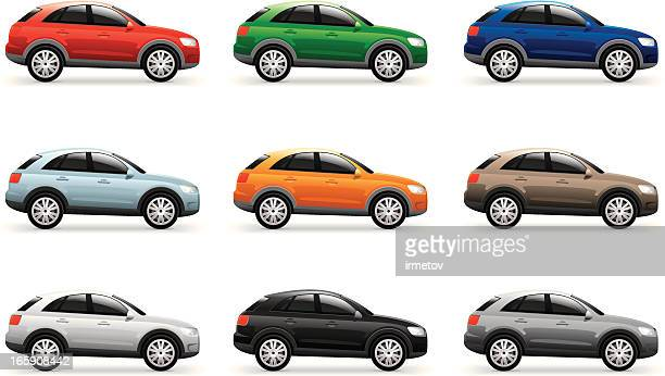 vector car - hatchback stock illustrations, clip art, cartoons, & icons