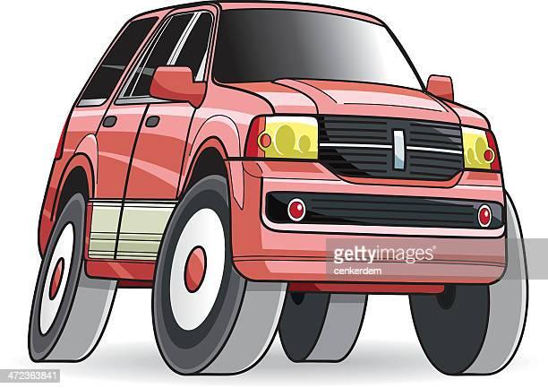 4x4 vector car - suv stock illustrations, clip art, cartoons, & icons