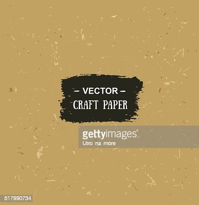 Vector Cardboard Texture Craft Paper For Your Design Vector Art