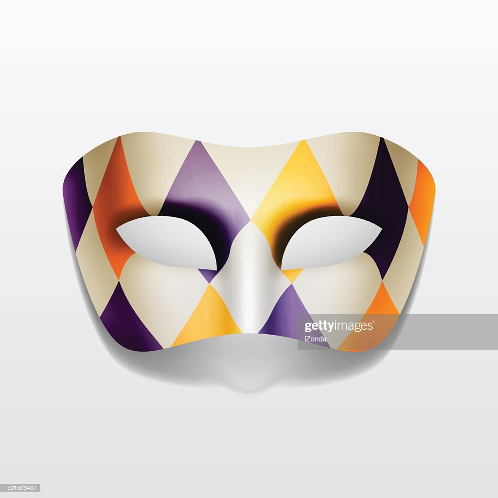 Vector Carnival Masquerade Party Mask Isolated on White