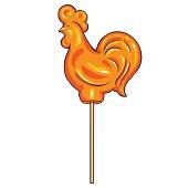 vector cartoon candy cock