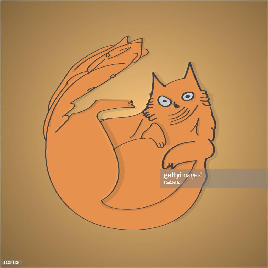 Vector Cartoon Cat