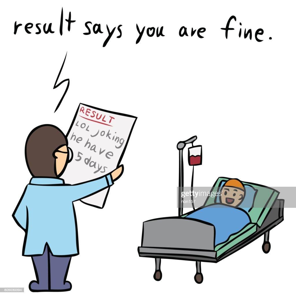vector cartoon doctor resault isolated