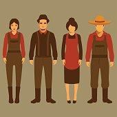 vector cartoon farmer character,