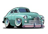 Vector Cartoon retro car