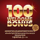 Vector casino banner 100 Welcome Bonus
