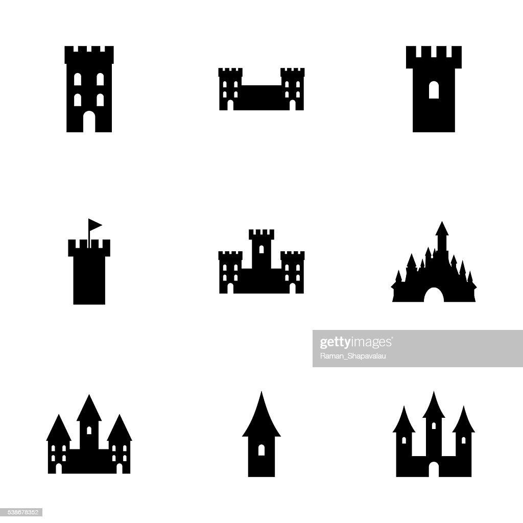 Vector castle icon set