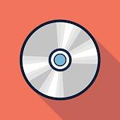 Vector cd icon