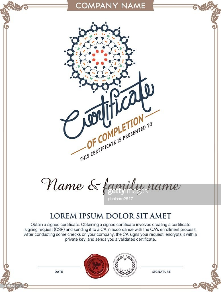 Vector certificate template vector art getty images vector certificate template xflitez Gallery