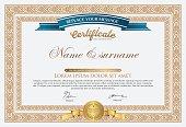 Vector certificate template-vector design.