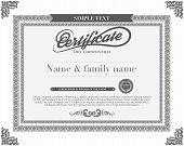 Vector certificate template.vector
