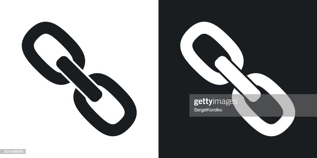 Vector chain or link icon. Two-tone version
