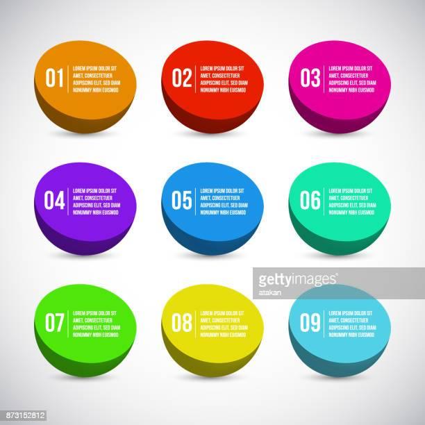 9 のオプション インフォ グラフィックのためベクトル グラフ テンプレート - 16:9点のイラスト素材/クリップアート素材/マンガ素材/アイコン素材