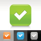 Vector check mark icon set with varying colors