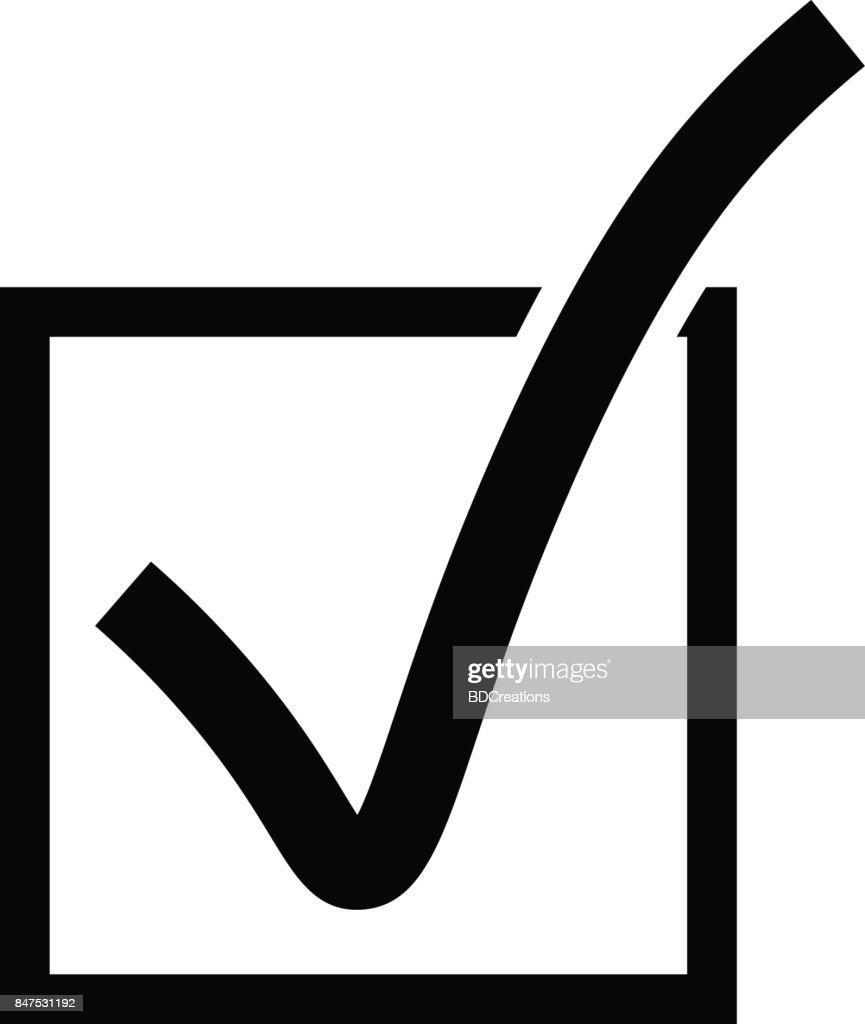 Vektorcheckboxsymbol Stock-Illustration - Getty Images