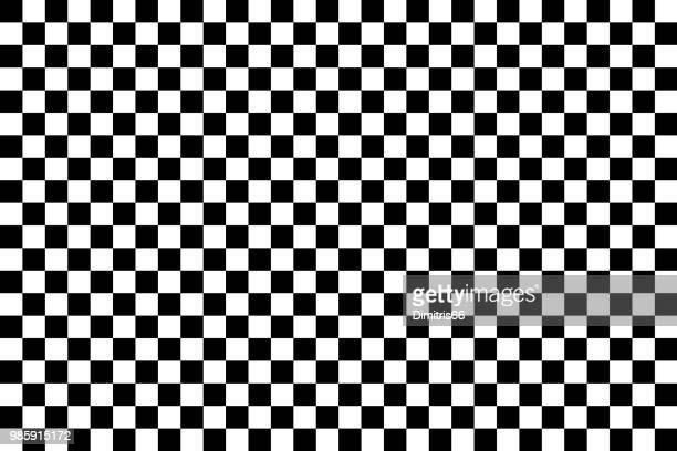 vector checker chess abstract seamless background - black and white stock illustrations