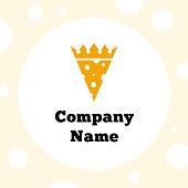 Vector Cheese King Logo Template