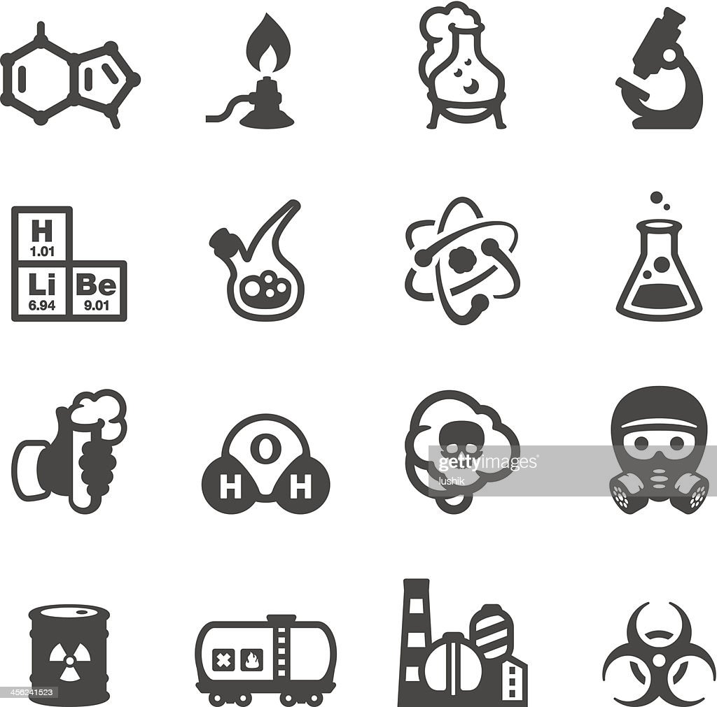 Vector chemistry-themed icon set
