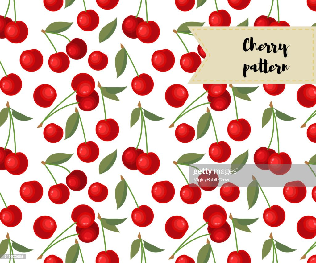 vector cherry seamless pattern. background, fabric design, wrapping paper, cover